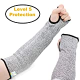 REFAGO Cut Resistant Sleeves Arm Safety Sleeves, High Performance Level 5 Protection, 1 Pair