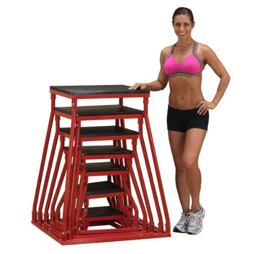 Body-Solid Plyo Box Platforms - 6'', 12'', 18'', 24'', 30'', 36'', 42'' (Set of 7) by Ironcompany.com