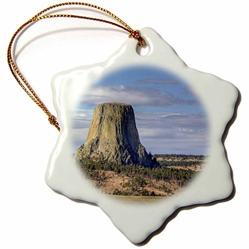Funny Christmas Snowflake Ornaments Wyoming Devils Tower National Monument Jamie & Judy Wild Holiday Xmas Tree Hanging Ornaments Decoration Gifts by Rutehiy