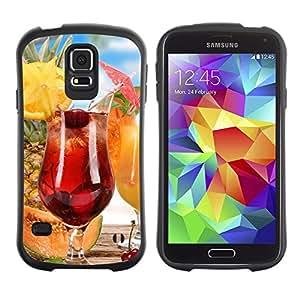 Suave TPU GEL Carcasa Funda Silicona Blando Estuche Caso de protección (para) Samsung Galaxy S5 / CECELL Phone case / / Fruit Macro Fruit Cocktail /