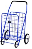 EASY WHEELS Jumbo Shopping Cart, Blue