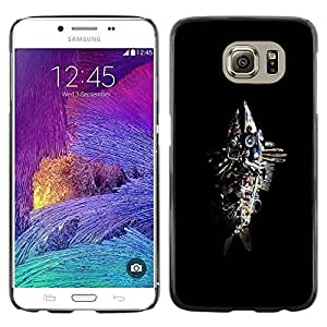 Shell-Star Arte & diseño plástico duro Fundas Cover Cubre Hard Case Cover para Samsung Galaxy S6 / SM-G920 / SM-G920A / SM-G920T / SM-G920F / SM-G920I ( Abstract Junk Fish Sculpture )