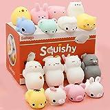 Toys : Mochi Squishy Toys, Satkago 20 Pcs Mini Squishies Mochi Animals Stress Toys Panda Squishy Kawaii Squishy Cat Stress Reliever Anxiety Toys For Children Adults