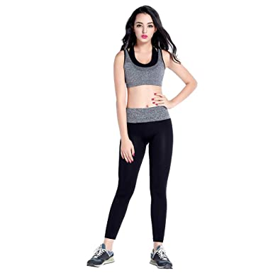Amazon.com: Leyorie Womens Stretch Slim Sport Leggings High ...