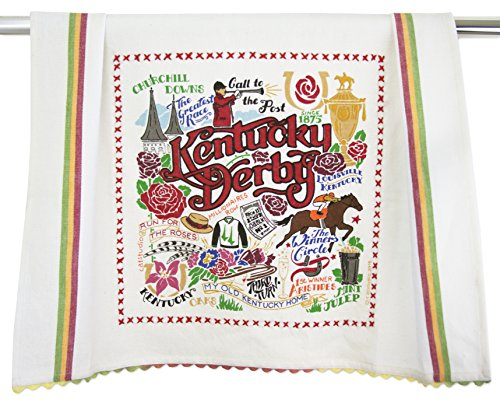 Kentucky Derby Dish Towel | Featuring Original Artwork Celebrating The History and Traditions of The Derby and Churchill Downs | ()
