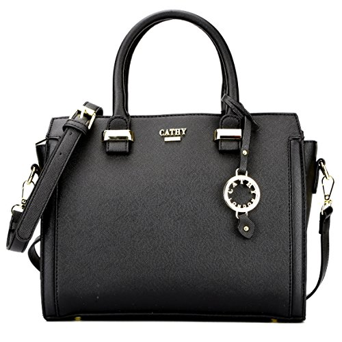 Cathy London Women's Handbag, Material- Synthetic Leather, Colour- Black