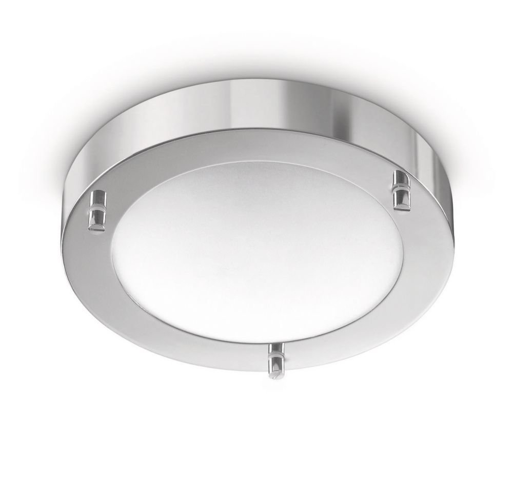 Philips Treats Lampada Bagno Soffitto, Lampadina Inclusa, Diametro 18.5 cm, Alluminio [Classe di efficienza energetica D] 915000517505