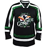 Guinness Toucan Black, Green and White Hockey Jersey, XXX-Large
