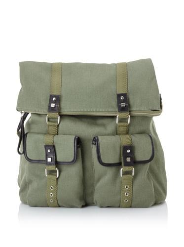 Bodhi Handbags Men's Vintage Army Canvas Backpack Bag