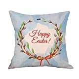 2017 Easter's Day Pillow Case,Elevin(TM)New Painting Square Cotton Cushion Cover Throw Waist Pillow Case Sofa Bedroom Home Decor Good Easter's Gift (M) (E)