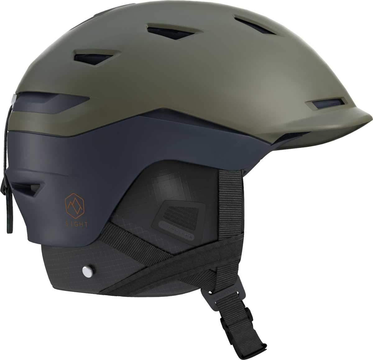 SALOMON(サロモン)SIGHT スキー スノーボード ヘルメット L40534300 OliveNight×Dress青 L_5962cm