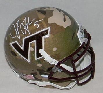 c9439d50698 Amazon.com  Tyrod Taylor Signed Autographed Virginia Tech Hokies Camo Mini  Helmet - JSA Certified - Autographed College Mini Helmets  Sports  Collectibles