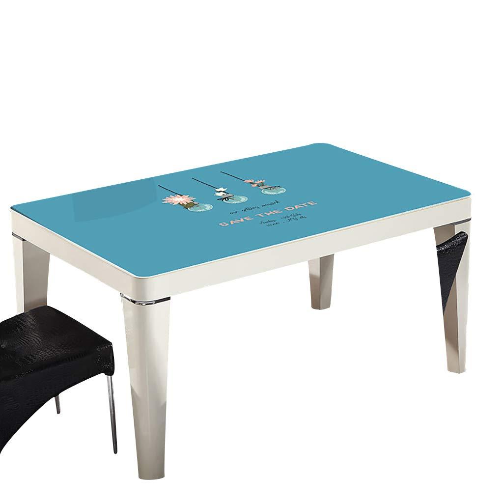 テーブルクロスソフトガラスPVC 90x140cm防水アンチホットアンチオイル簡単クリーンテーブルプロテクターコーヒーティーテーブルマットプラスチックテーブルクロス (サイズ さいず : 90x140cm) 90x140cm  B07S4KWMHL