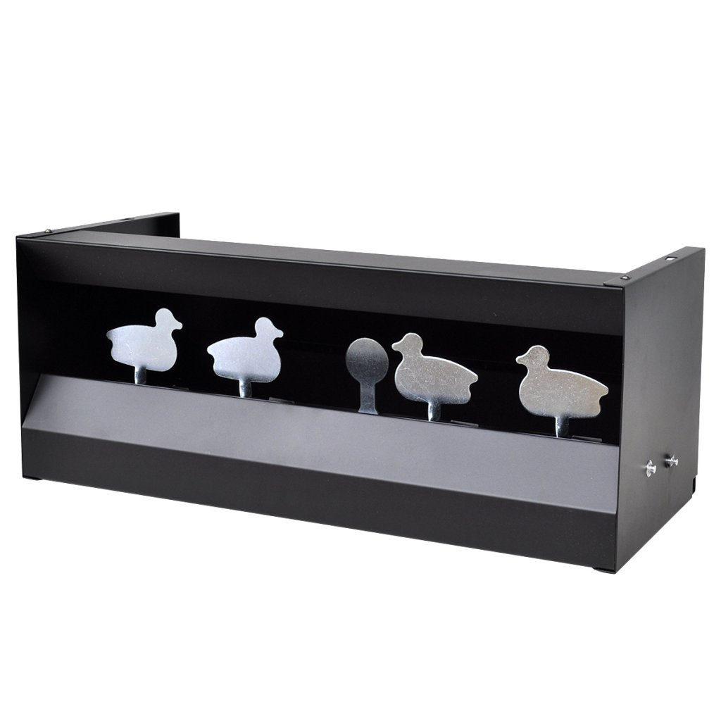 Festnight Tiro Magnetico DE 4 + 1 Blancos para Larga Distancia con Forma de Patos - Material de Acero, 49x22x20 cm