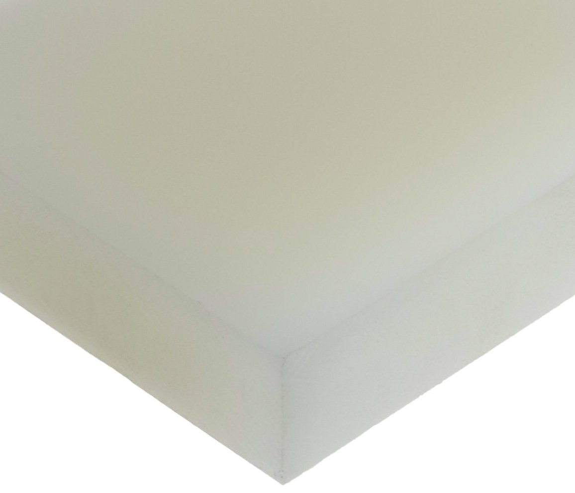 Opaque Off-White Polyvinylidene Fluoride Sheet 12 Length 3//4 Thickness 6 Width 12 Length Small Parts 6 Width 3//4 Thickness PVDF ASTM D6713 Standard Tolerance