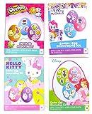 Hello Kitty, Trolls, Shopkins, Girl's Easter Egg Decorating Kits set of Three, Great for girl's Easter Gift.