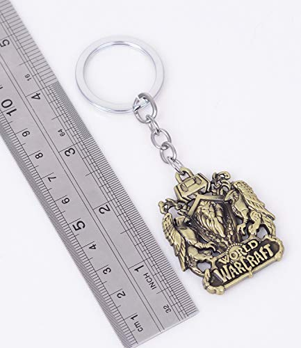 Reddream-Pack-of-2-World-of-Warcraft-Cute-Game-Keychain-Decorations-Cool-Keyring-Pendant-Charms-Gifts-for-Boy-Girl-Best-Friends-Collections