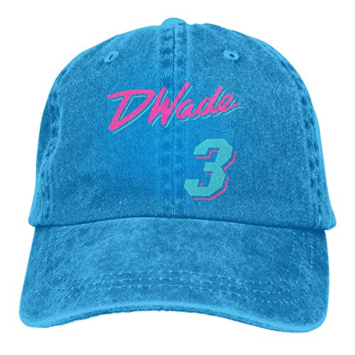 D Wade Jersey (Basketball Clothing From China Adjustable Plain Caps D-Wa-de#3 Baseball Hat Blue)