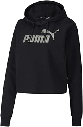 PUMA Women's Essentials+ French Terry Metallic Cropped Hoodie