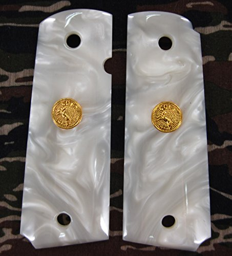 Colt 1911 White Pearl Grips
