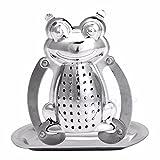 Kangnice Cute Stainless Steel Frog Diffuser Infuser Tea Leaf Strainer Herbal Spice Filter