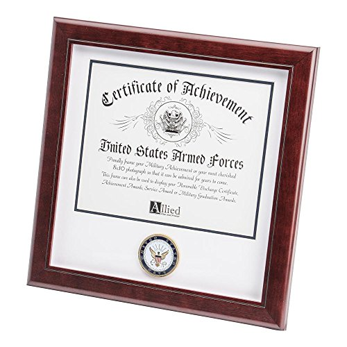 - Allied Frame US Navy Certificate of Achievement Picture Frame with Medallion - 8 x 10 Inch Opening
