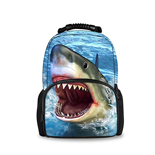 Animal Backpack shark with Fashion Head Softback Tiger Showudesigns School Bags OHn5fqUwA