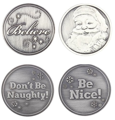 (Roman Inc. Don't Be Naughty, Believe Coin (Pocket Token) - Santa Christmas 34941-RXMS)