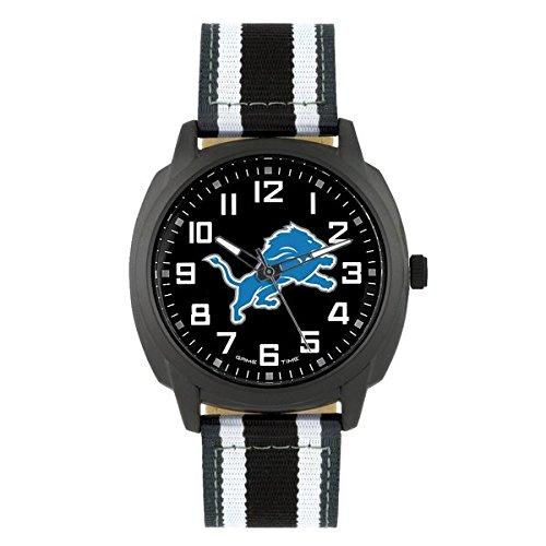 (NFL Detroit Lions Mens Ice Series Wrist Watch, Black, One Size)