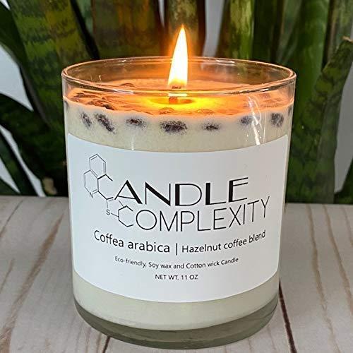 Highly Scented Vanilla Hazelnut Premium Soy Candle 8oz