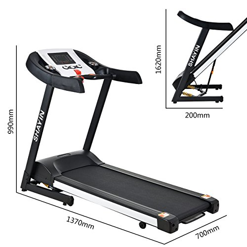 Treadmill Folding Electric Treadmill Easy Assembly Motorized Home Running Machine with Rolling Wheels B900 (US Stock)