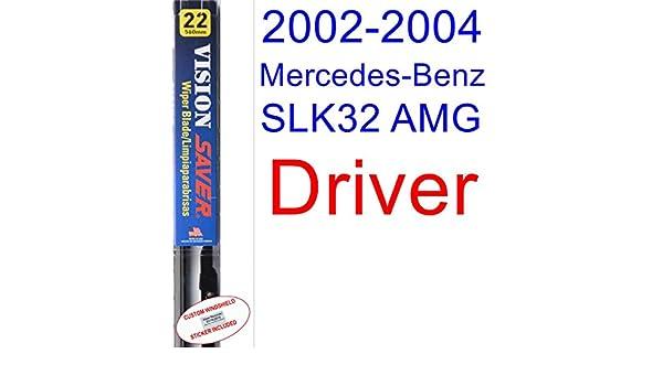 Amazon.com: 2002-2004 Mercedes-Benz SLK32 AMG Base Wiper Blade (Driver) (Saver Automotive Products-Vision Saver) (2003): Automotive