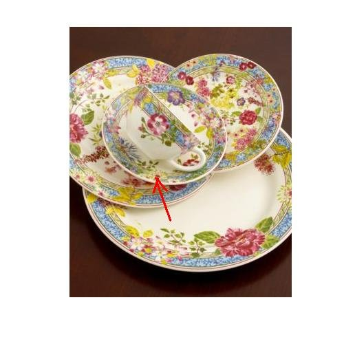 Gien Mille Fleur Tea Saucer in Multicolored Floral