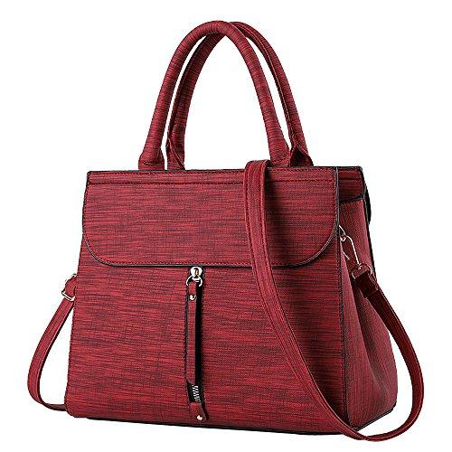3DRF Sintética Red preppy Bags estilo Mounter Mujer Piel HD de RaE1qHp