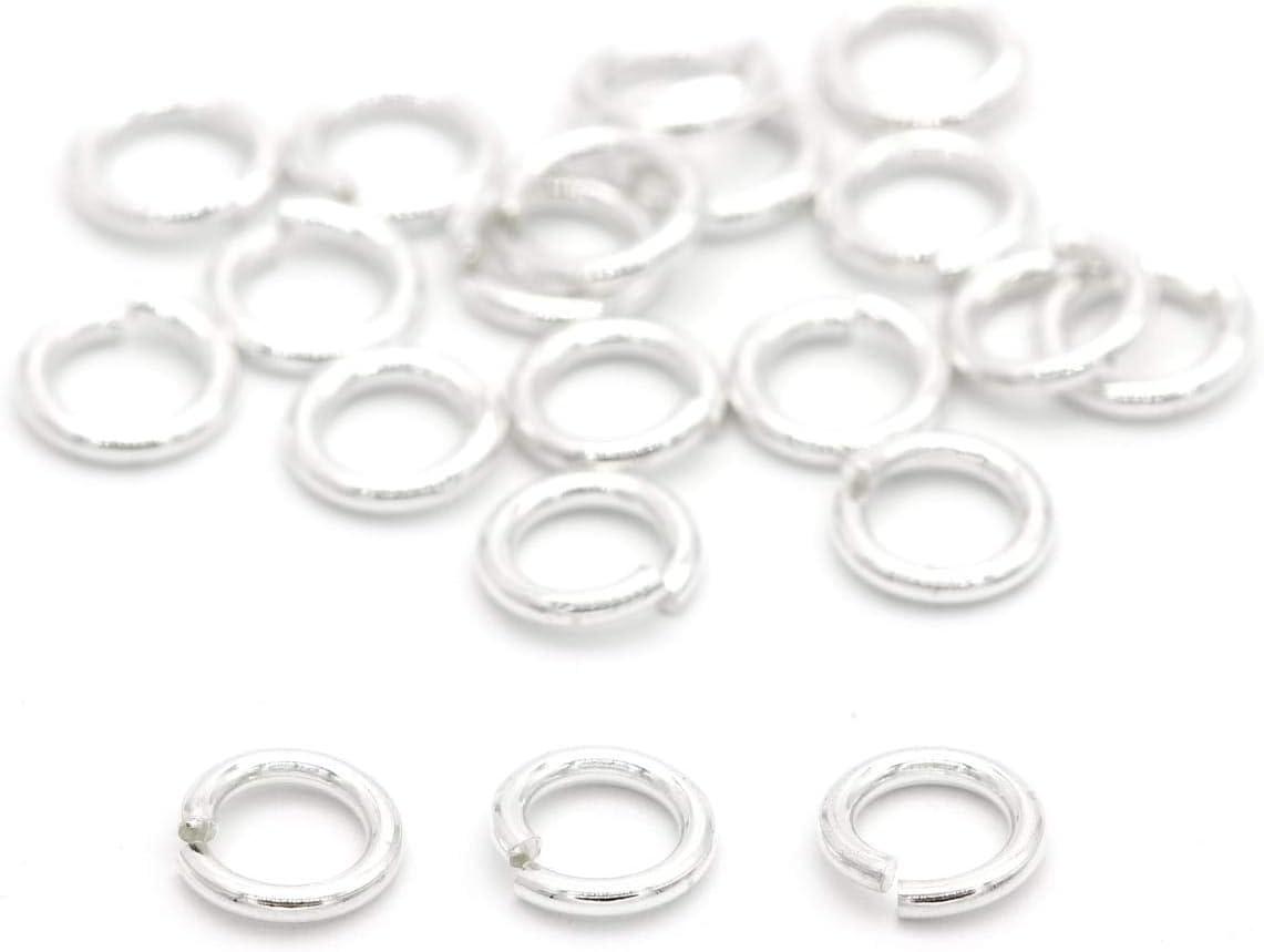 NaturSchatulle Biegeringe 925 Sterling Silber /Ø 4mm Binderinge I 3 St/ück Spaltringe Verbindungsringe /Ösen Basteln DIY Schmuckherstellung Nickelfrei