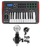 Novation IMPULSE 25 Ableton Live 25-Key MIDI USB Keyboard Controller+Studio Mic