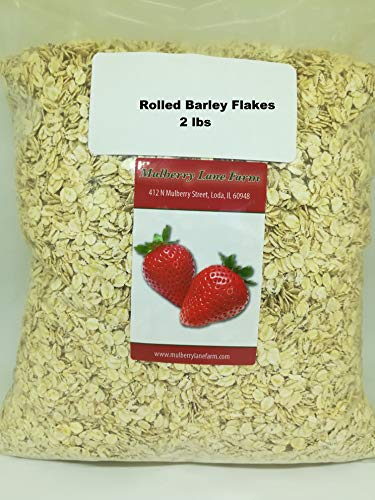 Rolled Barley Flakes 2 Pounds All Natural, Non-GMO ()