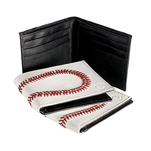 Genuine Baseball Mens Gift Wallet Bifold Leather Sports Box in 8rxqE8pw