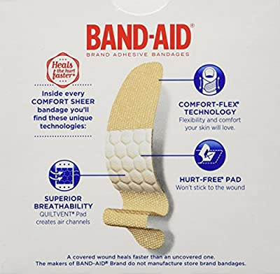 Band-Aid Brand Adhesive Bandages Sheer Strips