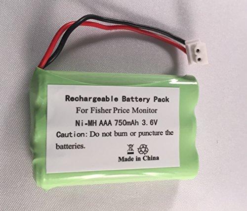 Battery for Fisher Price Baby Monitor 3.6v TEL10160 J2458 M6163 J2457 V58IT V58HS UL240, V58CID, V58ITAD by RTL Batteries