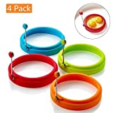 Egg Ring Non Stick Silicone Egg Rings Pancake Mold Round Cooking Mould 4 Color