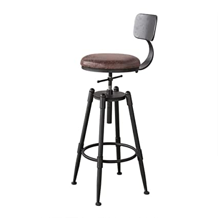 Iron Bar Chair European Bar Chair Raised And Lowered Stool Domestic Backrest Barstool Vintage Coffee Front Desk Chair Bar Chairs Furniture