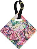 Watercolor Floral Diamond Luggage Tag