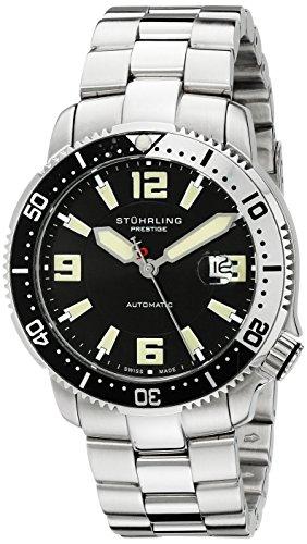 Stuhrling Prestige Men's 323.33111 Prestige Swiss Made Regatta Cruiser Automatic Date Stainless Steel Bracelet Watch (Prestige Bezel Bracelet)
