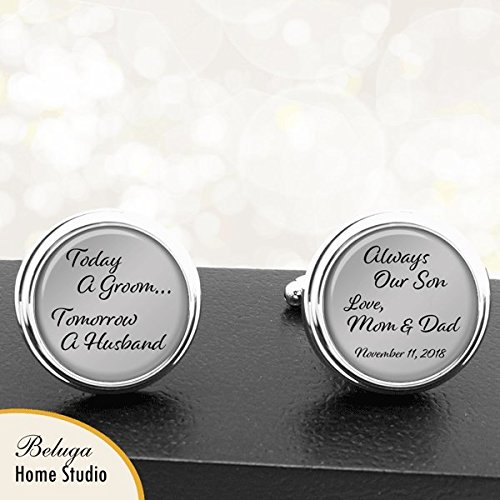 Amazon Groom Cufflinks From Mom And Dad Wedding Gift From
