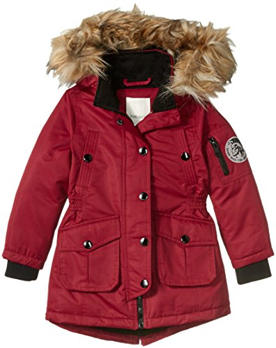 Shearling Toggle Jacket (Diesel Big Girls' Outerwear Jacket (More Styles Available), Burgundy a, 14/16)