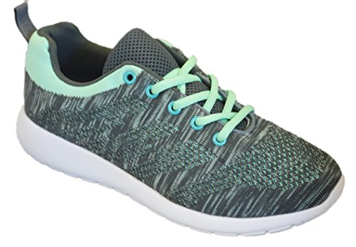 Shop Pretty Girl Womens Sneakers Athletic Knit Mesh Running Light Weight Go Easy Walking Casual Comfort Running Shoes 2.0 (6, Aqua Mint with Memory Foam Insole)