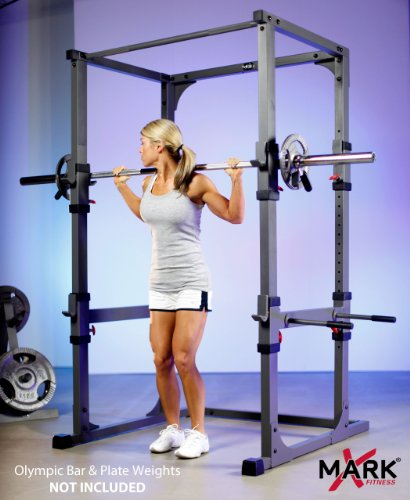 Xmark power cage with dip station and pull up bar xm 4430 for Power rack design plans