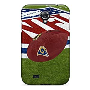 Shock-Absorbing Hard Cell-phone Cases For Samsung Galaxy S4 With Allow Personal Design Trendy St. Louis Rams Skin LisaSwinburnson