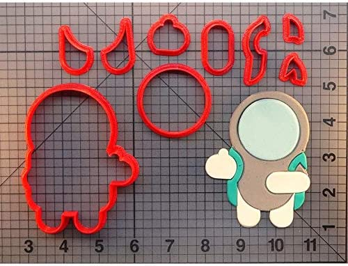 """moon  plastic cookie cutter 4/"""""""